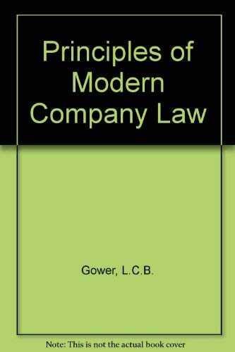 9780420464002: Principles of Modern Company Law