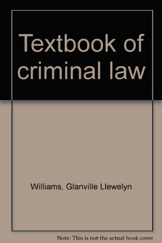 9780420468505: Textbook of criminal law