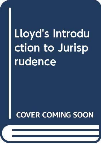 9780420471703: LLOYD'S INTRODUCTION TO JURISPRUDENCE