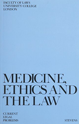 9780420480200: Medicine Ethics and Law