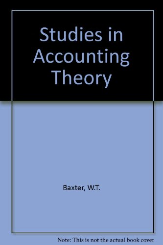 9780421000803: Studies in Accounting Theory