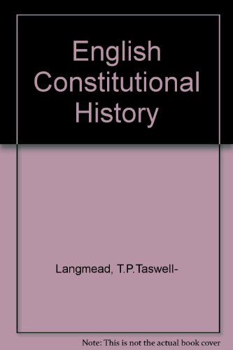9780421031807: English Constitutional History
