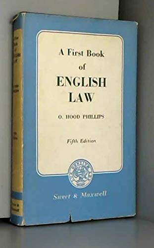 9780421132702: First Book of English Law