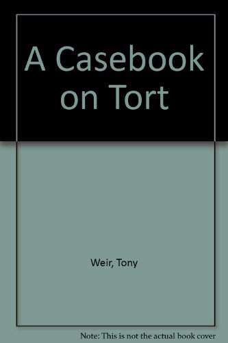 9780421134508: A Casebook on Tort