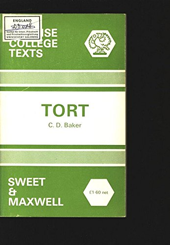 9780421138209: Tort (Concise College Texts)