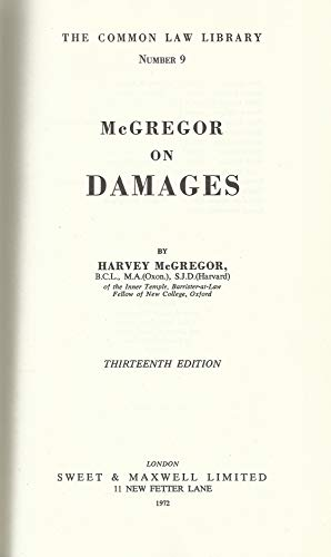 9780421148604: Law of Damages (Common Law Library)