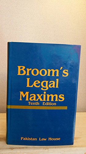 9780421160507: Selection of Legal Maxims Classified and Illustrated