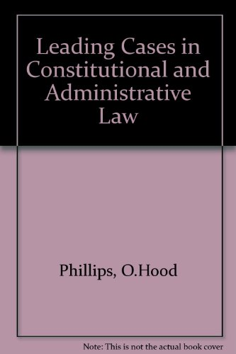 9780421161009: Leading cases in constitutional and administrative law,