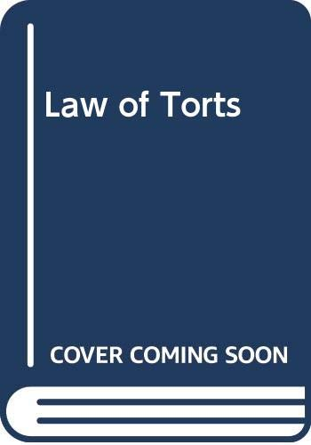 9780421166202: Law of Torts