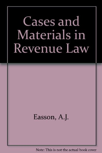 9780421167803: Cases and Materials in Revenue Law