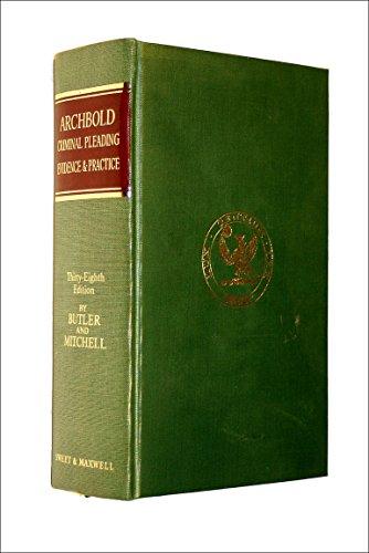 9780421171404: Pleading, evidence & practice in criminal cases