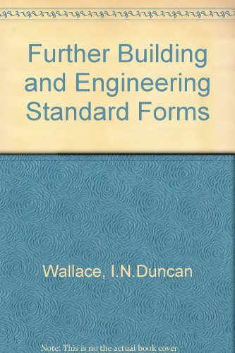 9780421179707: Further Building and Engineering Standard Forms