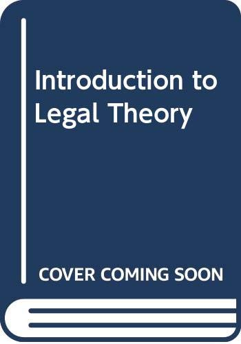 9780421196308: Introduction to legal theory