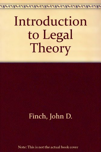 9780421196407: Introduction to Legal Theory