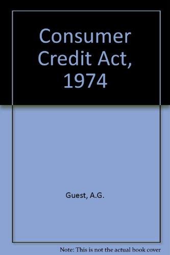 9780421215504: Consumer Credit Act, 1974
