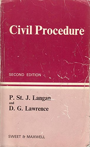 9780421217409: Civil Procedure