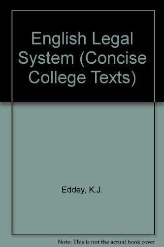 9780421221406: English Legal System (Concise College Texts)