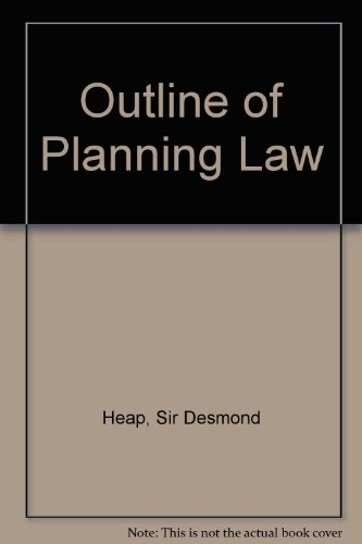 9780421227903: Outline of Planning Law
