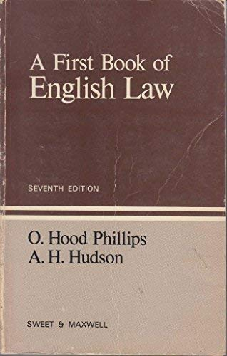 9780421230309: A first book of English law