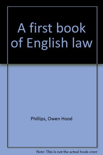 9780421230408: A first book of English law