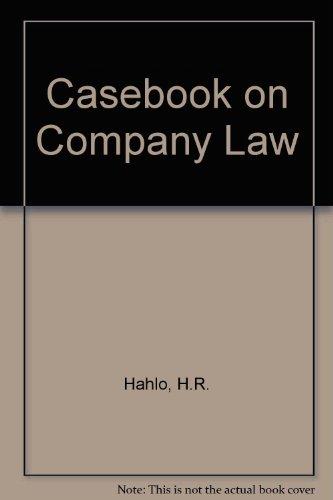 Hahlo's Casebook on Company Law. Second Edition.: Hahlo, H R ; Trebilcock, M J