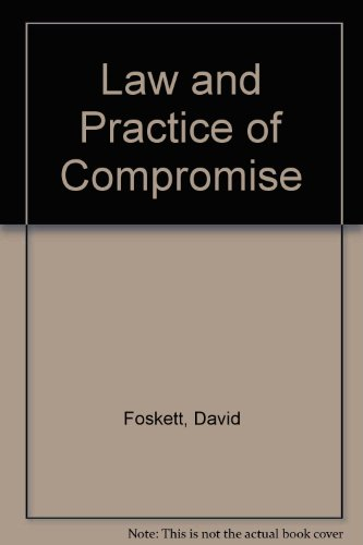 9780421242203: Law and Practice of Compromise