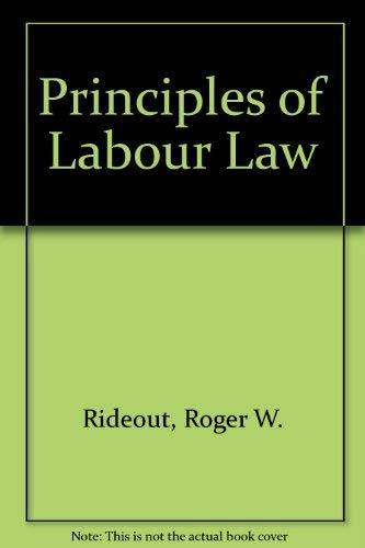 9780421242708: Principles of labour law