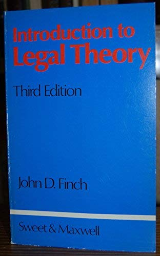 9780421248304: Introduction to legal theory