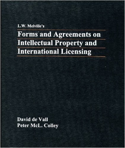 9780421253001: Melville: Forms & Agreements on Intellectual Property & International Licensing
