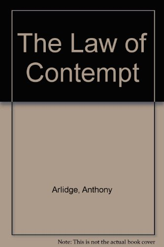 9780421259201: The Law of Contempt