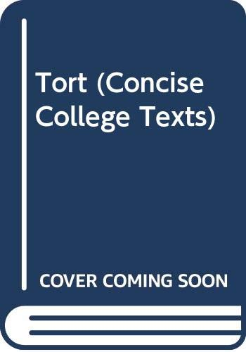 9780421270305: Tort (Concise College Texts)