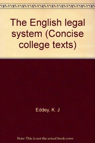 9780421275706: The English legal system (Concise college texts)