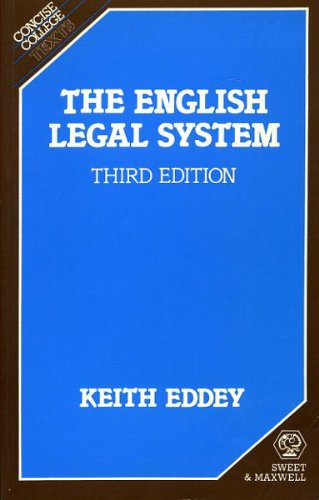 9780421275805: The English legal system (Concise college texts)