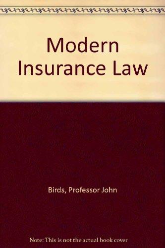 Modern Insurance Law: John Birds