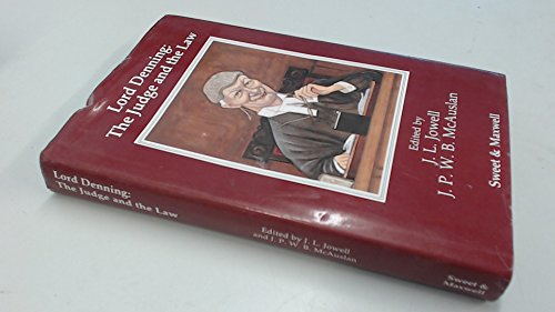 9780421281202: Lord Denning: The Judge, the Law