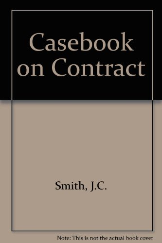 9780421283206: Casebook on Contract