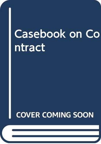 9780421283305: A casebook on contract