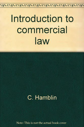 9780421285101: Introduction to commercial law (Concise college texts)