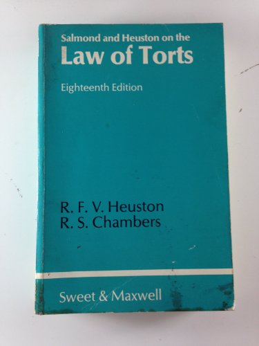 9780421287105: Salmond and Heuston on the law of torts