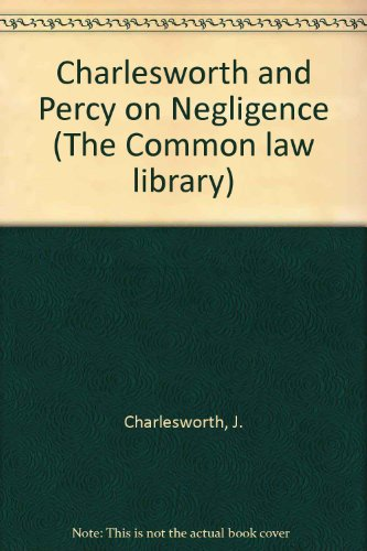 9780421290204: Charlesworth and Percy on Negligence (The Common law library)