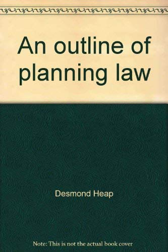9780421295506: An outline of planning law