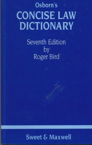 9780421296800: Osborn's Concise Law Dictionary