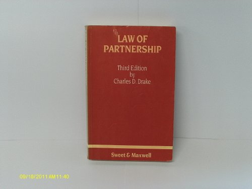 9780421298408: Law of Partnership