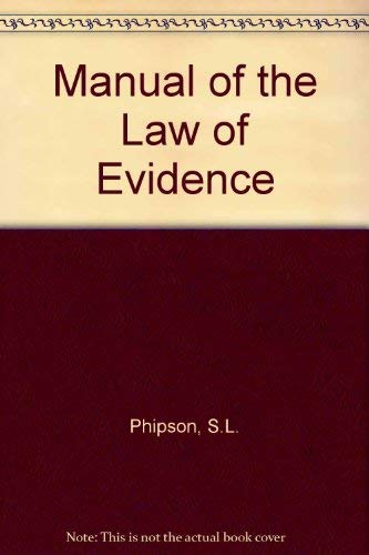 9780421338203: Manual of the Law of Evidence