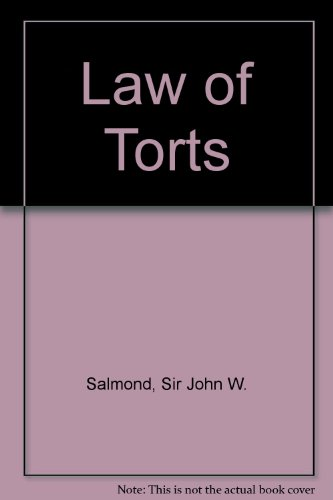 9780421343108: Law of Torts