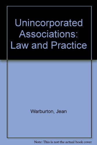 9780421345409: Unincorporated Associations: Law and Practice