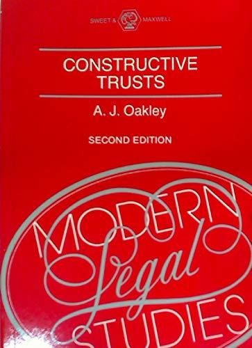 9780421347502: Constructive Trusts (Modern Legal Studies)