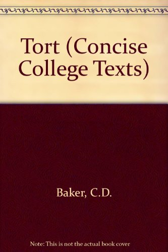 9780421349407: Tort (Concise College Texts)