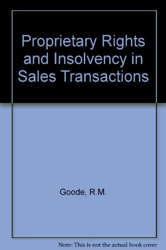 9780421351400: Proprietary Rights and Insolvency in Sales Transactions