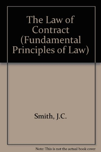 9780421364202: The Law of Contract (Fundamental Principles of Law)